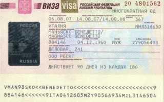 Обзор визы в Россию