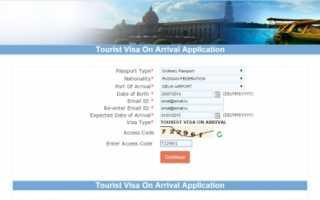 Как получить визу в Индию по прилету