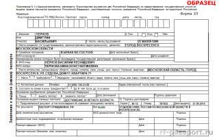 Порядок заполнения бланка заявления на смену паспорта после замужества
