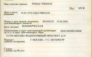 Характеристика визы для американцев в Россию