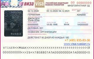 Какой бывает деловая виза в Россию для иностранцев
