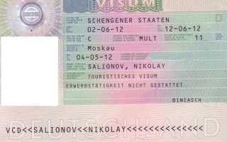 Необходимые документы на визу в Германию