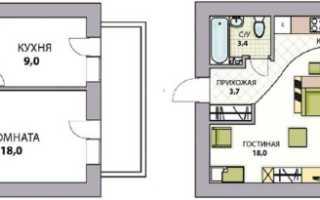 Оформление перепланировки 1 комнатной брежневки