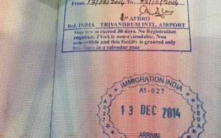 Какая нужна виза в Индию для россиян