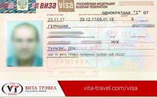 Как именно выглядит виза в Россию